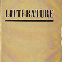 Littérature, No. 1