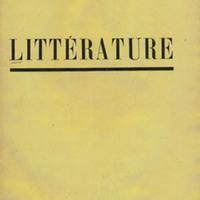 Littérature, No. 10