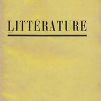 Littérature, No. 9