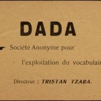 """""""Dada : Societe anonyme pour l'exploitation du vocabulaire"""""""