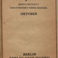 Neue Jugend, No. 10