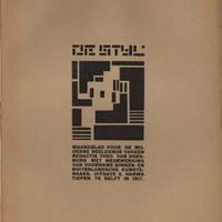 De Stijl, Vol. 1, no. 8