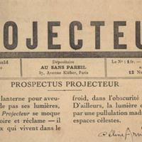 Projecteur, No. 1