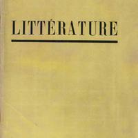 Littérature, No. 8