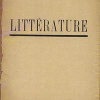 Littérature, No. 3
