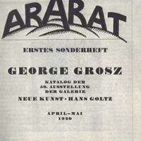 Der Ararat, Vol. 1, First Special Number