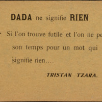 """Dada ne signifie rien"""